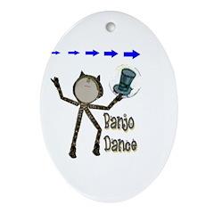 Banjo Dance Oval Ornament