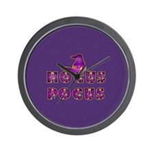 Hocus Pocus Magic Purple Wall Clock