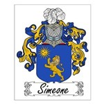 Simeone Family Crest Small Poster