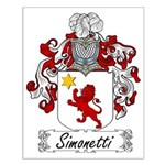 Simonetti Family Crest Small Poster