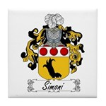 Simoni Family Crest Tile Coaster
