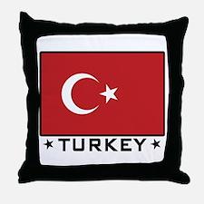 Flag of Turkey Throw Pillow