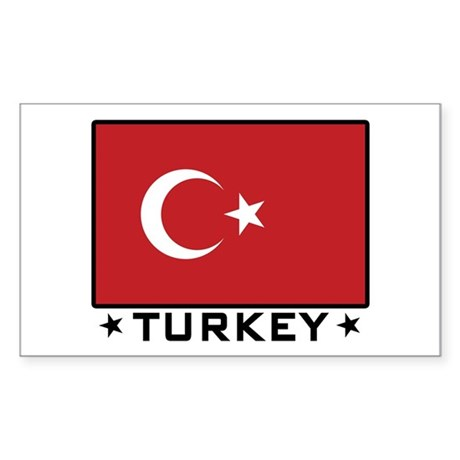 Flag of Turkey Rectangle Sticker