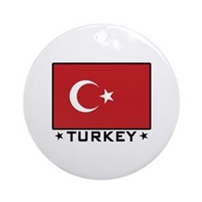 Flag of Turkey Ornament (Round)