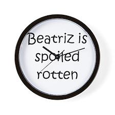Cool Beatriz Wall Clock