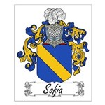 Sofia Family Crest Small Poster