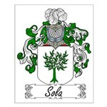 Sola Family Crest Small Poster