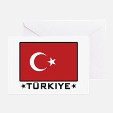 Flag of Turkiye Greeting Cards (Pk of 10)