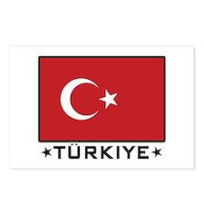 Flag of Turkiye Postcards (Package of 8)