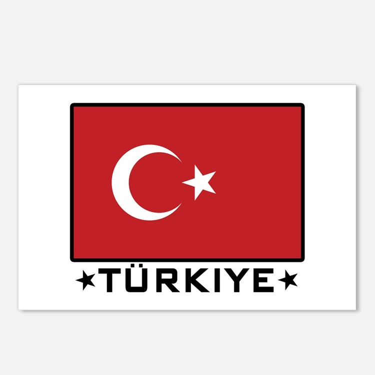 Flag of Turkiye Postcards (Package of 8)