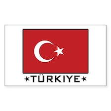 Flag of Turkiye Rectangle Decal