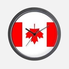 Inverted Canadian Flag Wall Clock