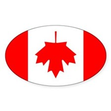 Inverted Canadian Flag Oval Decal