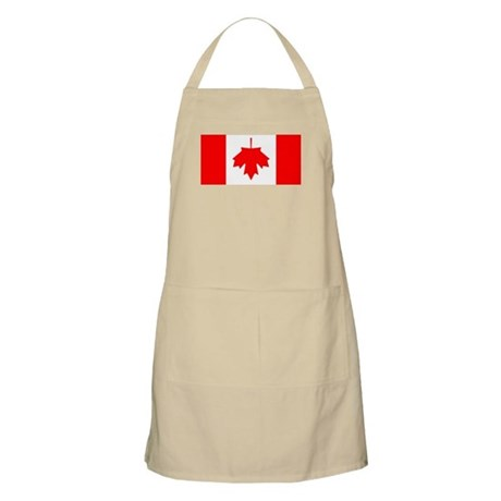 Inverted Canadian Flag BBQ Apron