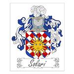 Solari Family Crest Small Poster