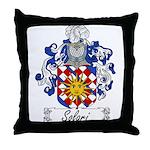Solari Family Crest Throw Pillow