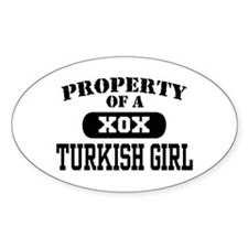 Property of a Turkish Girl Oval Decal