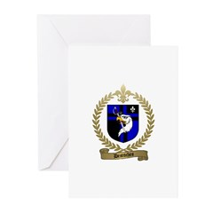 DESROCHES Family Crest Greeting Cards (Package of
