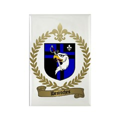 DESROCHES Family Crest Rectangle Magnet (100 pack)