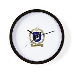 DESROCHES Family Crest Wall Clock
