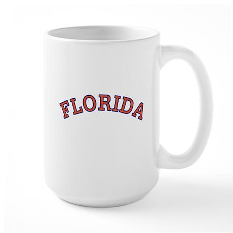 Orange and Blue Florida Large Mug