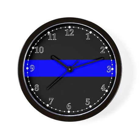 The Thin Blue Line Wall Clock