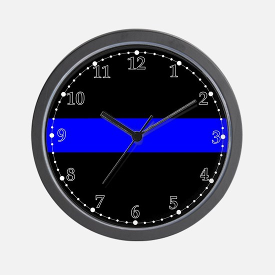 The Thin Blue Line Wall Clock