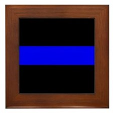 The Thin Blue Line Framed Tile