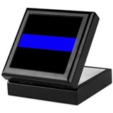 Thin blue line Square Keepsake Boxes