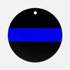 The Thin Blue Line Ornament (Round)