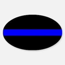 The Thin Blue Line Oval Sticker (10 pk)