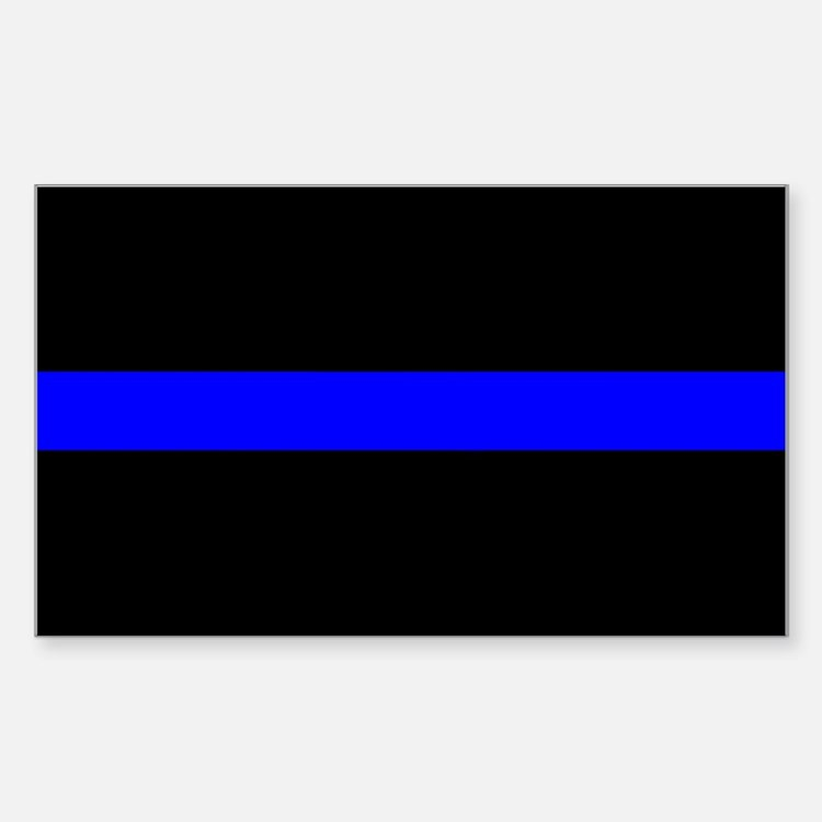 The Thin Blue Line Rectangle Bumper Stickers