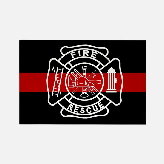 Firefighter Thin Red Line Rectangle Magnet