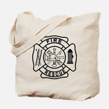 Firefighter Thin Red Line Tote Bag