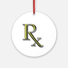 Pharmacy Rx Ornament (Round)