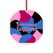 Pink Environmental Ornament (Round)