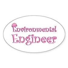 Pink Environmental Oval Decal