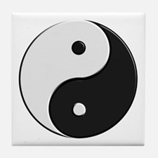 Chinese Yin Yang Tile Coaster