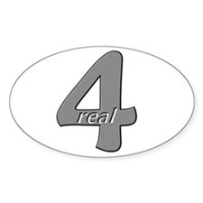 4 Real Oval Decal