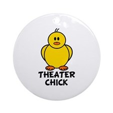 Theater Chick Ornament (Round)