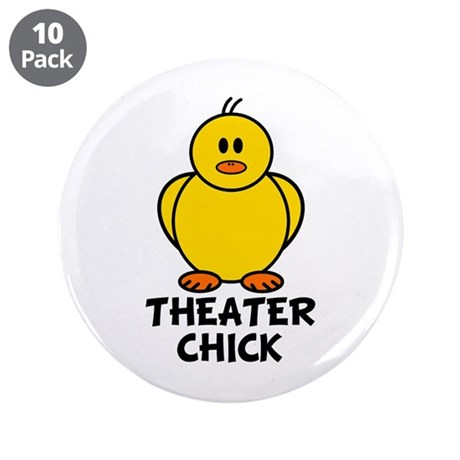 "Theater Chick 3.5"" Button (10 pack)"