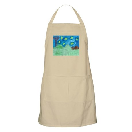 A Starry Night BBQ Apron