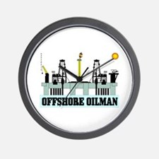 Offshore Oilman Wall Clock