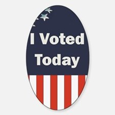 I Voted Today Oval Decal