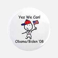 "Obama - Yes We Can 3.5"" Button (100 pack)"
