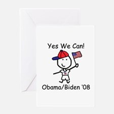 Obama - Yes We Can Greeting Card