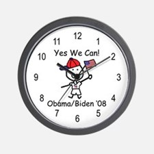 Obama - Yes We Can Wall Clock