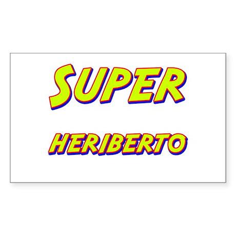 Super heriberto Rectangle Sticker