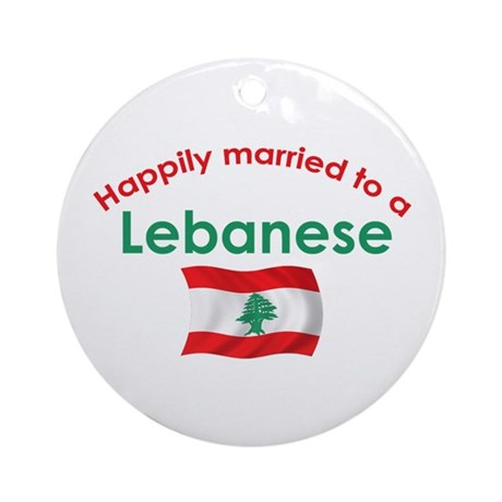 Happily Married Lebanese 2 Ornament (Round)