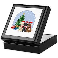 Christmas Lab Keepsake Box
